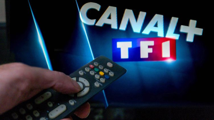 La guerre entre Canal+ et TF1. (MAXPPP)