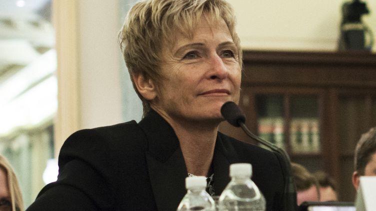 Peggy Whitson, astronaute à Washington (USA), le 25 juillet 2018. (MARCUS TAPPAN / AFP)