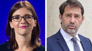 Aurore Bergé (gauche) et Christophe Castaner, qualifiés pour le second tour de l'élection du président du groupe LREM à l'Assemblée nationale. (AFP)