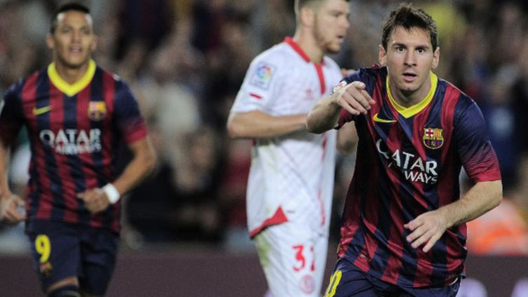 L'Argentin du FC Barcelone Lionel Messi