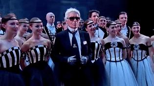 """Karl Lagerfeld signe les costumes du """"Brahms-Schönberg Quartet"""" le dernier ballet de Benjamin Millepied à l'opéra de Paris  (France 2 / Culturebox)"""