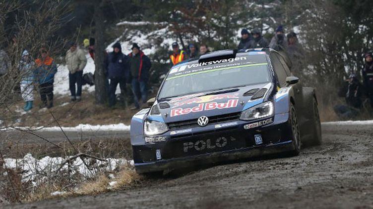 Sébastien Ogier sur sa Polo - Volswagen (ALEXANDRE GUILLAUMOT / ALEXANDRE GUILLAUMOT)