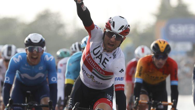 Diego Ulissi remporte sa 2e victoire d'étape dans ce Giro 2020 (LUCA BETTINI / AFP)