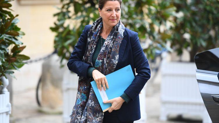 La ministre de la Santé, Agnès Buzyn, le 8 février 2020 à Matignon (Paris), à l'occasion d'un point presse sur l'épidémie de Covid-19. (CHRISTOPHE ARCHAMBAULT / AFP)