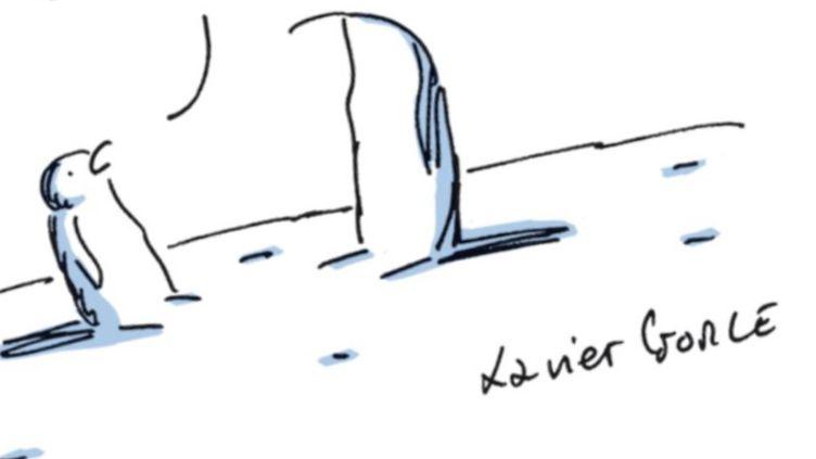 Le dessin de Xavier Gorce, publié le 19 janvier, a fait polémique. (CAPTURE D'ÉCRAN / XAVIER GORCE)