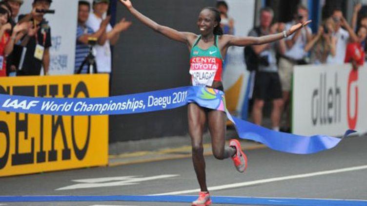 La Kényane Edna Kiplagat remporte le marathon féminin