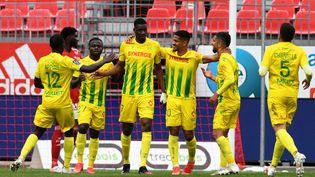 Nantes s'est imposé à Brest (4-1) lors de la 35e journée de Ligue 1 dimanche 2 mai 2021. (FRED TANNEAU / AFP)