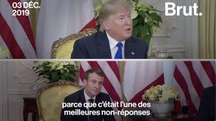 VIDEO. Sommet de l'OTAN : échange tendu entre Donald Trump et Emmanuel Macron (BRUT)