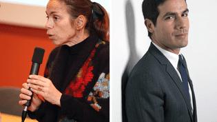 L'ancienne directrice de l'INA Agnès Saal et son prédécesseur Mathieu Gallet. (INA & MARTIN BUREAU / AFP)