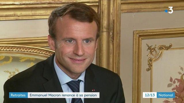 Retraites : Emmanuel Macron renonce d'avance à sa pension d'ancien président