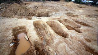 Un chantier de fouilles, à Narbonne (Aude). (  MAXPPP)