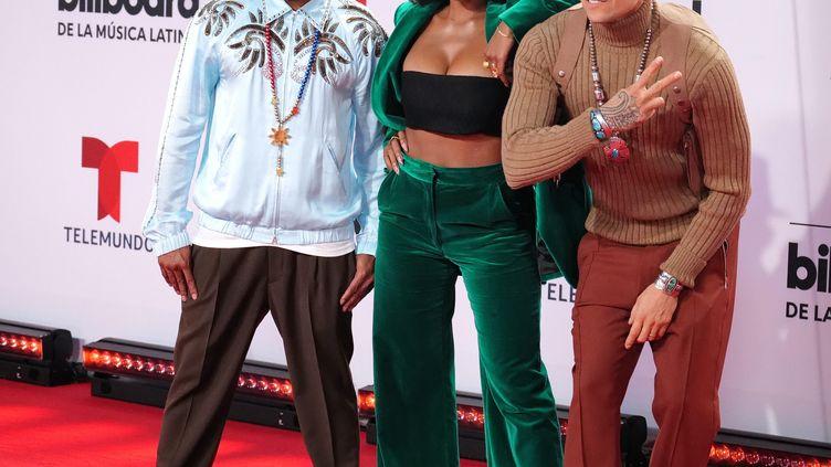 Les Black Eyed Peas aux latin Billboard Music Awards (22 octobre 2021). (GARY I ROTHSTEIN / MAXPPP)