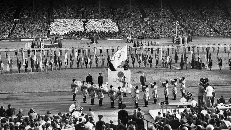 La cérémonie de clôture des JO de Londres en 1948