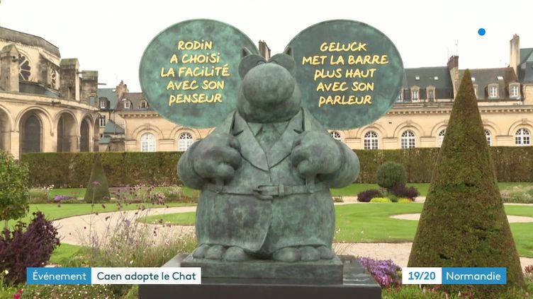 Le Chat déambule, une exposition de statues du Chat dans les rues de Caen (France 3 Normandie)