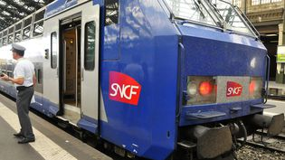 Un train en gare de Lyon (Rhône) le 10 juin 2014. (CITIZENSIDE / YANN KORBI)