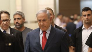 Benjamin Netanyahu à la Knesset, le 29 mai 2019. (ILIA YEFIMOVICH / DPA / AFP)
