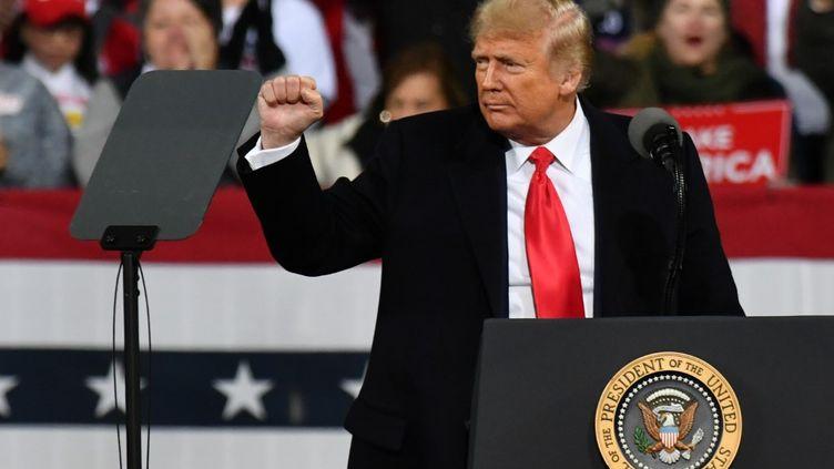 Le président américain, Donald Trump,lors d'un meetingen Géorgie, le 5 décembre 2020. (PETER ZAY / ANADOLU AGENCY / AFP)