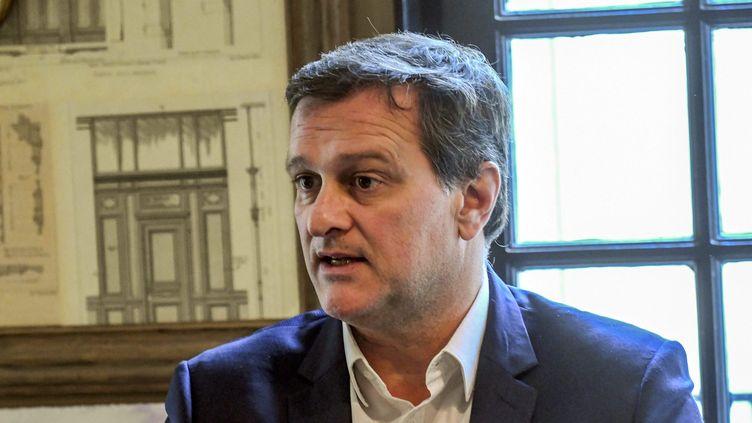 Louis Aliot, député du Rassemblment national, à Perpignan, dans les Pyrénées-Orientales, le 6 mars 2020. (MICHEL CLEMENTZ / MAXPPP)