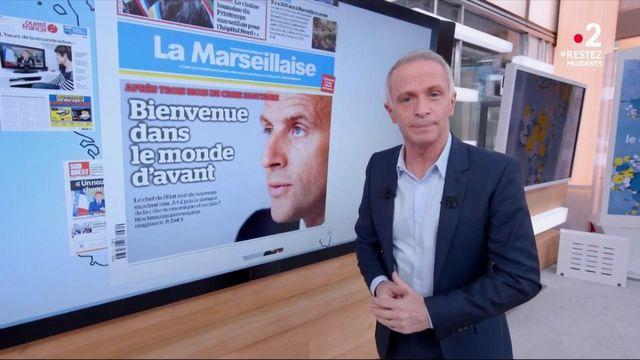 L'allocution du président Macron, à la Une de la presse quotidienne régionale