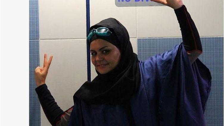 La nageuse irannienne Elham Asghari, prise en photo par son managerFarvartish Rezvaniyeh le 11 juin 2013. (FARVARTISH REZVANIYEH)