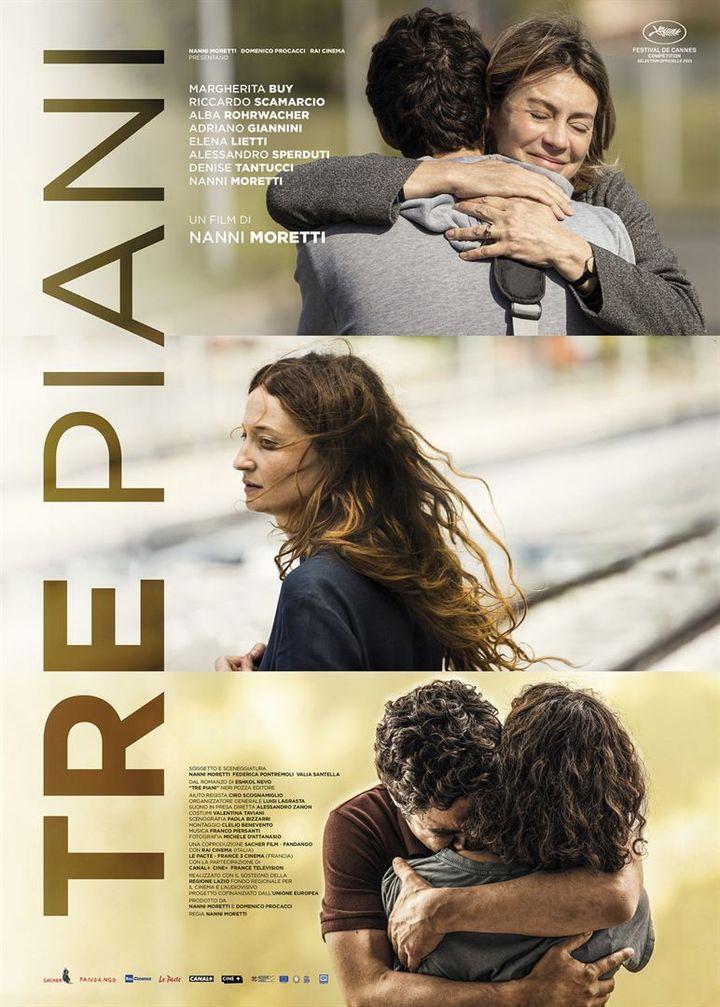 "L'affiche de ""Tre Piani"" deNanni Moretti (2021). (LE PACTE)"