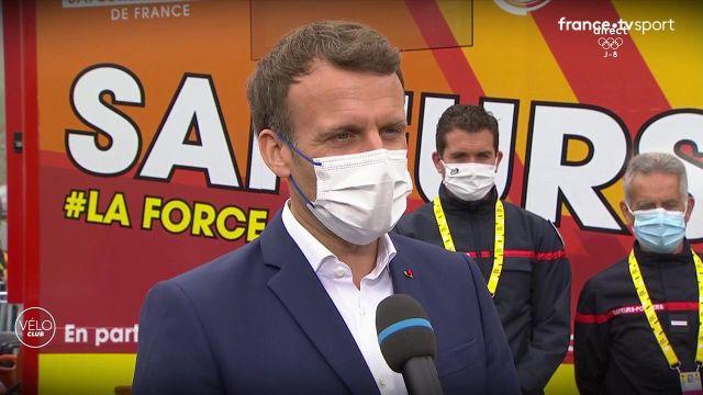 Le Président de la République est présent à Luz Ardiden où il a remis le maillot jaune à Tadej Pogacar. Il revient sur les prestations des Français et aborde la campagne de vaccination.