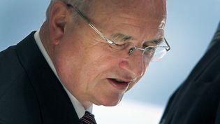 Le président du directoire de Volkswagen, Martin Winterkorn, a présenté sa démission, mercredi 23 septembre 2015, alors que le groupe est englué dans un scandale de fraude aux contrôles américains antipollution. (DANIEL ROLAND / AFP)