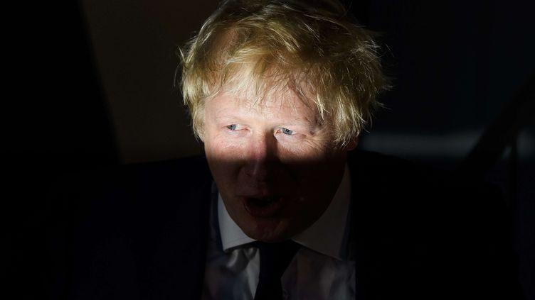 L'ancien maire de Londres, Boris Johnson, après son vote au référendum sur le Brexit, le 23 juin 2016 à Londres. (SIPANY / SIPA)
