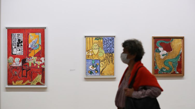 "L'exposition ""Matisse, comme un roman"", au Centre Pompidou, 20 octobre 2020 (GAO JING / XINHUA / VIA MAXPPP)"