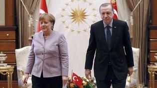 Angela Merkel et Recep Tayyip Erdogan à Ankara (Turquie), le 2 février 2017 (ADEM ALTAN / AFP)