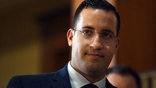 Alexandre Benalla, le 21 janvier 2019 à Paris, après son audition au Sénat. (ALAIN JOCARD / AFP)