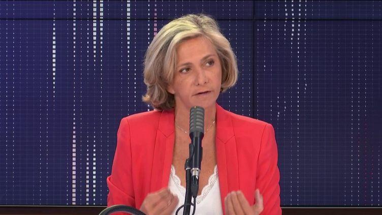Valérie Pécresse, présidente de la région Île-de-France, invitée de franceinfo, jeudi 17 septembre 2020. (FRANCEINFO / RADIOFRANCE)