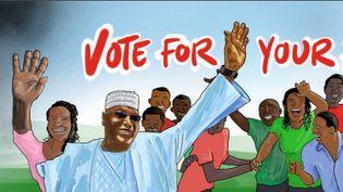 La page web du programme électoral illustré en émojis du candidat nigérian Atiku Abubakar. (Capture d'écran)
