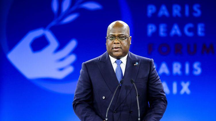 Le président de la République démocratique du Congo, Félix Tshisekedi, lors de sa participation au Forum sur la paix de Paris, le 12 novembre 2019. (LUDOVIC MARIN / POOL)