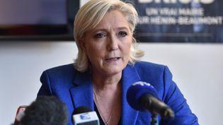 Marine Le Pen, le 19 mai 2017, à Hénin-Beaumont (Pas-de-Calais). (PHILIPPE HUGUEN / AFP)