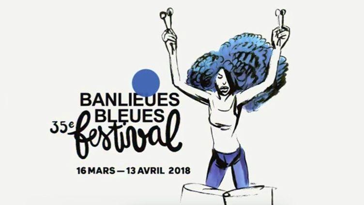 Banlieues Bleues : affiche de l'édition 2018  (DR)