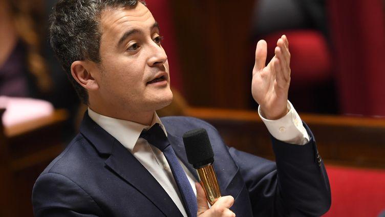 Le ministre de l'Action et des Comptes publics, Gérald Darmanin, le 5 décembre 2017 à l'Assemblée nationale, à Paris. (ERIC FEFERBERG / AFP)