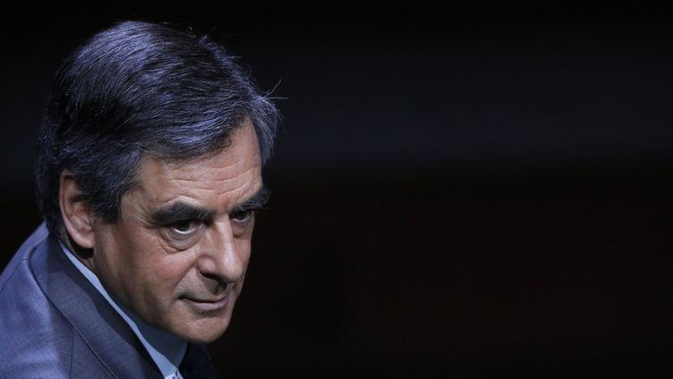 François Fillon le 22 mars, à la Maison de la radio. (MAXPPP)