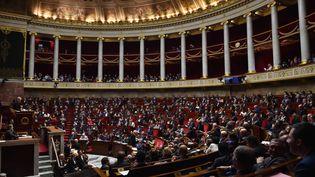 L'hémicycle de l'Assemblée nationale, le 8 novembre 2017. (CHRISTOPHE ARCHAMBAULT / AFP)