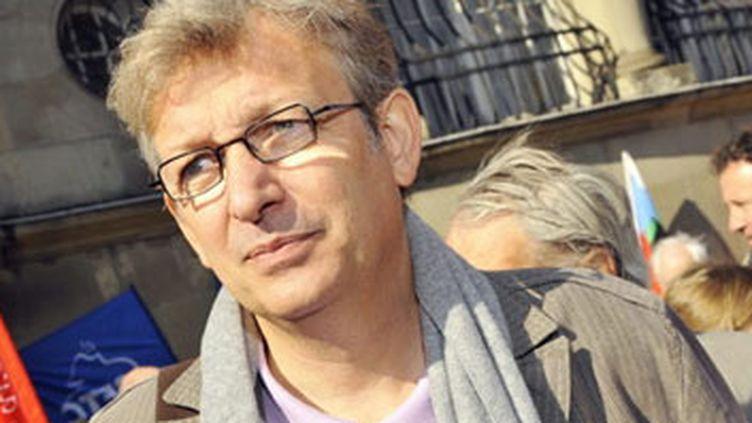 Pierre Laurent, tête de liste du Front de Gauche (FG) en  Ile-de-France. (AFP - Philippe Gisselbrecht)