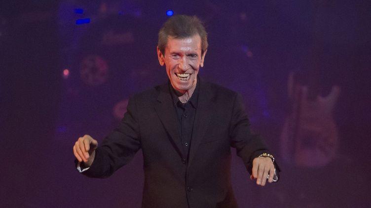 """L'humoriste Pierre Péchin en 2014 dans le spectacle """"Les éternels du rire"""" sur la scène du Palais Nikaia à Nice  (SYSPEO/SIPA)"""