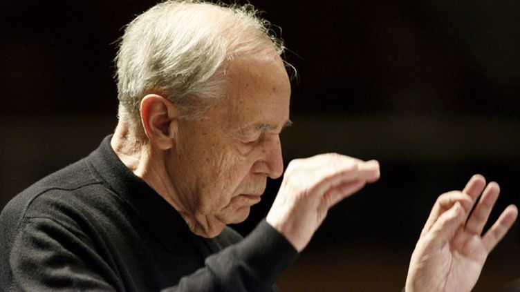 (Le compositeur et chef d'orchestre, Pierre Boulez, ici en 2008, est décédé à l'âge de 90 ans © MaxPPP)