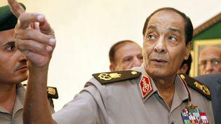 Le maréchalHussein Tantaoui le 13 septembre 2011. Il a assuré la transition lors de la chute d'Hosni Moubarak.  (AMR NABIL / POOL)