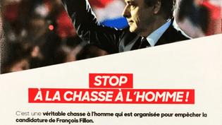 Capture d'écran du tract diffusé à quatre millions d'exemplaires par l'équipe de campagne de François Fillon. (DR)