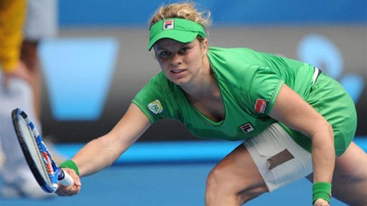 La Belge Kim Clijsters débordée