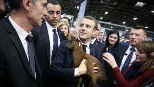 Emmanuel Macron, au Salon de l'agriculture, le 23 février 2019. (HAMILTON / REA)
