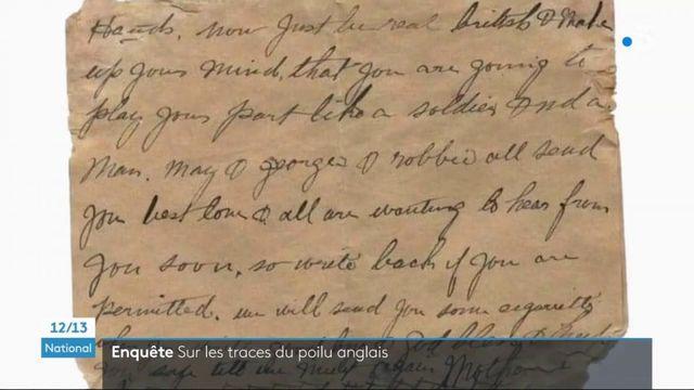 Hauts-de-France : un poilu anglais arraché de l'oubli grâce à des lettres retrouvées