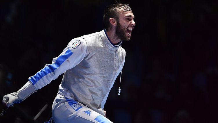 La joie de Daniele Garozzo (FABRICE COFFRINI / AFP)
