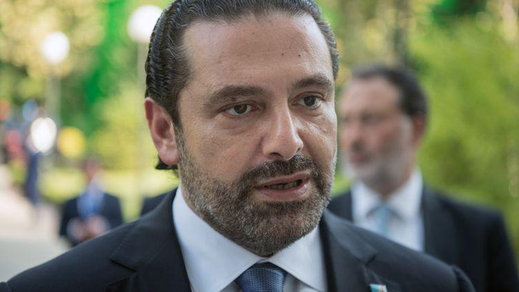Le Premier ministre libanais, Saad Hariri, à Sotchi (Russie), le 13 septembre 2017. (SERGEY GUNEEV / SPUTNIK  / AFP)