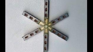 """Aspect """"en étoile"""" de la pilule mensuelle une fois dépliée dans l'estomac. (Crédits Photo : ©Tiffany Hua / MIT)"""